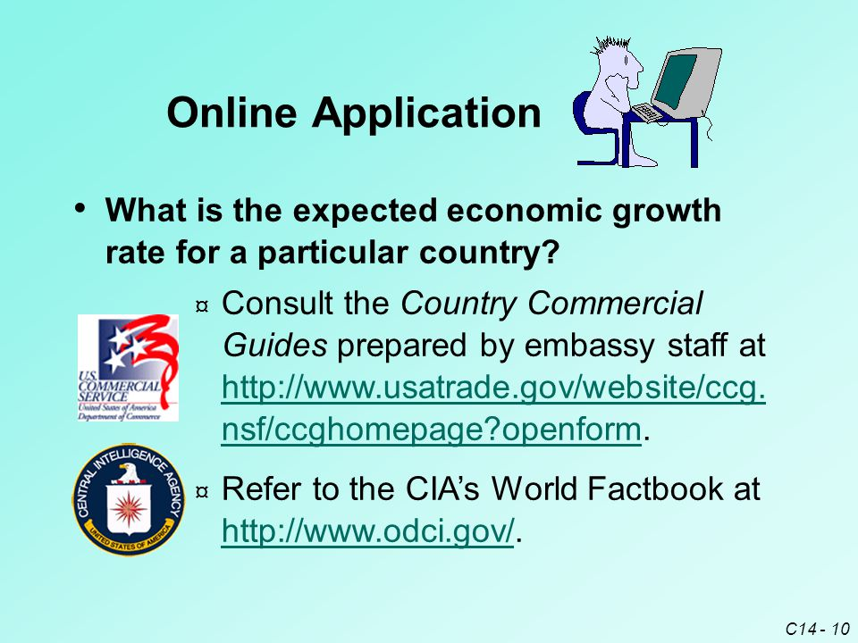 C14 - 10 What is the expected economic growth rate for a particular country.