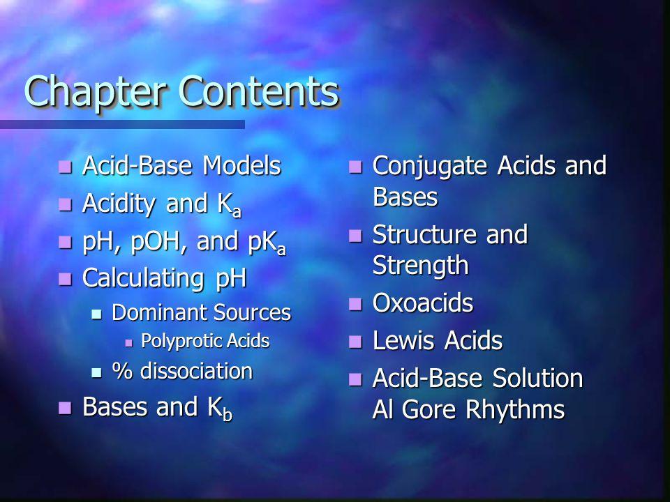 Zumdahl's Chapter 14 AcidsBasesAcidsBases