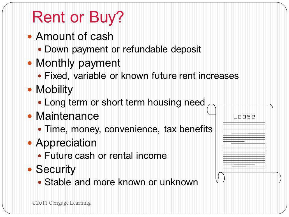 Rent or Buy.