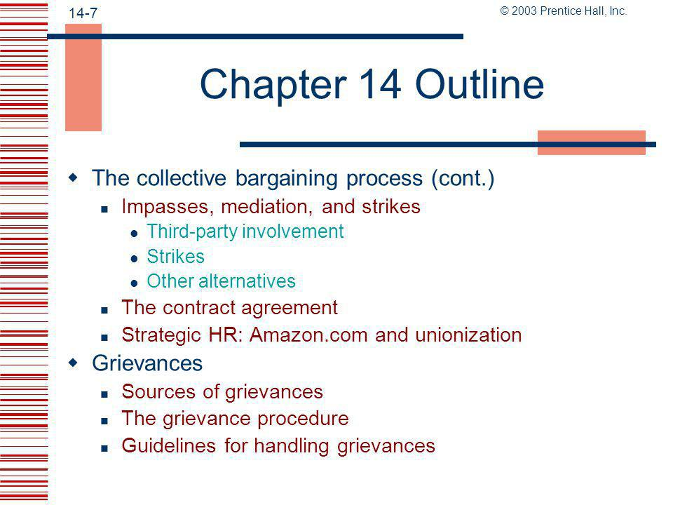 © 2003 Prentice Hall, Inc.14-37 What is collective bargaining.