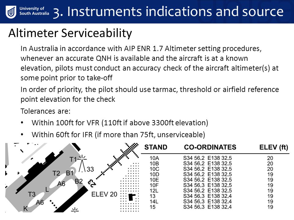 Altimeter Serviceability In Australia in accordance with AIP ENR 1.7 Altimeter setting procedures, whenever an accurate QNH is available and the aircr