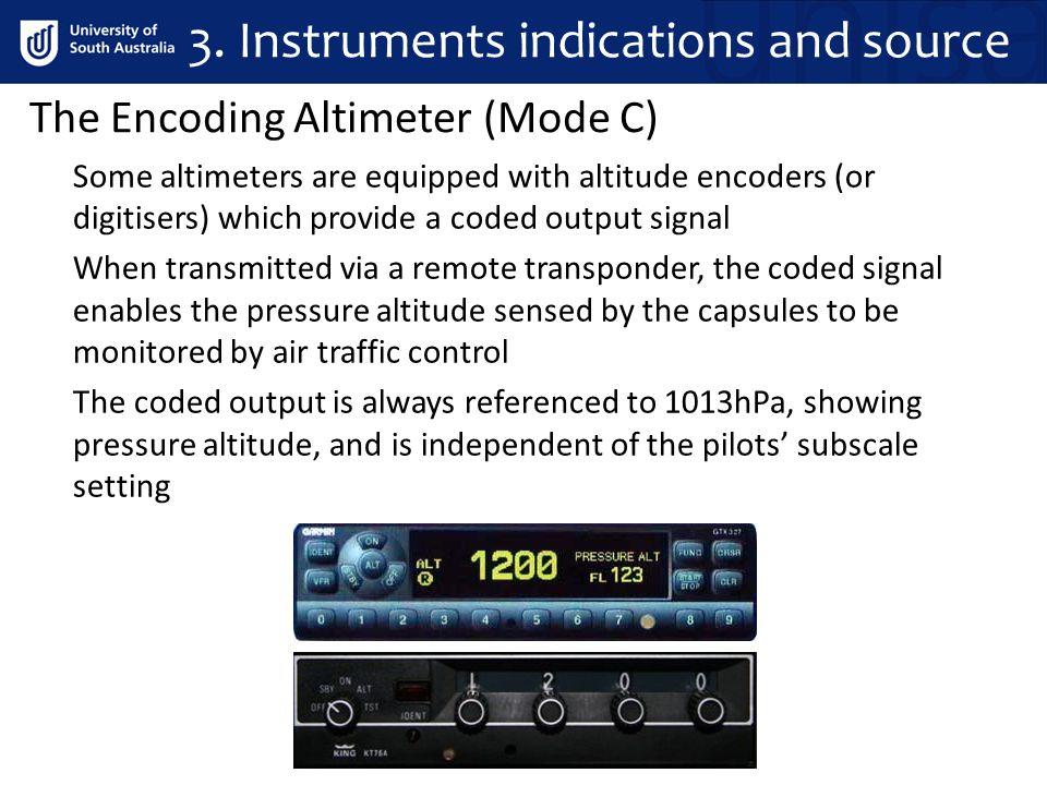 The Encoding Altimeter (Mode C) 3.
