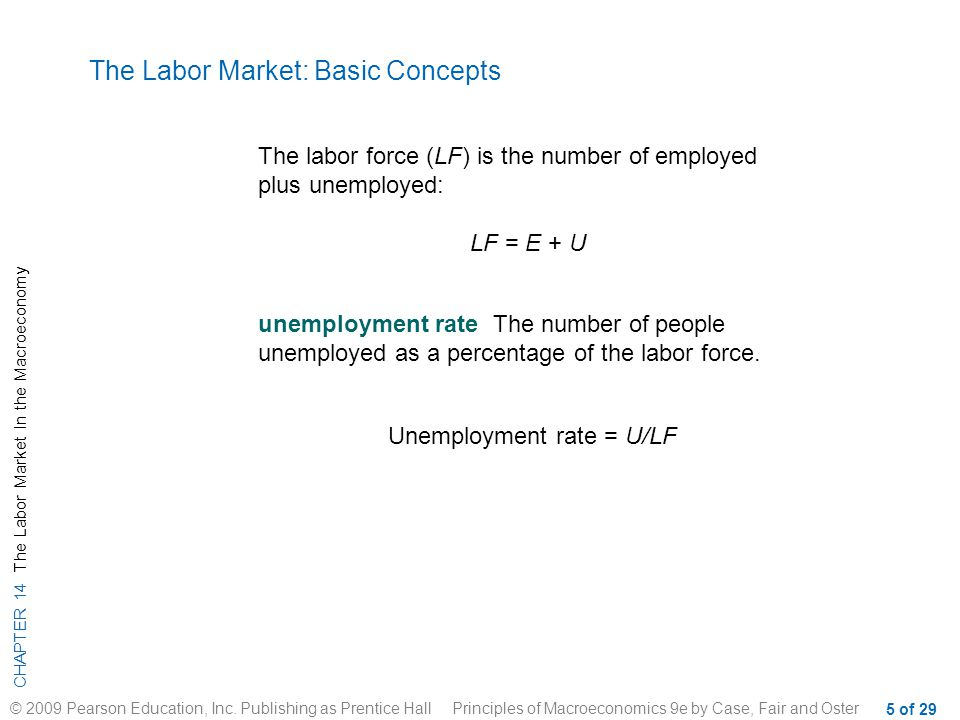 CHAPTER 14 The Labor Market In the Macroeconomy © 2009 Pearson Education, Inc.