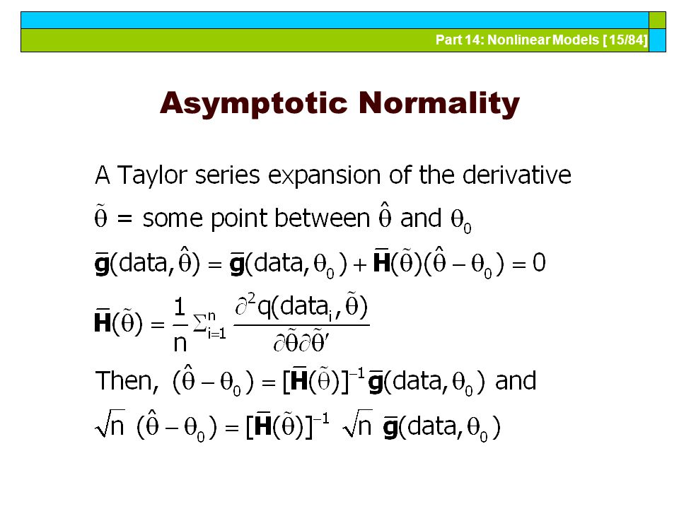 Part 14: Nonlinear Models [ 15/84] Asymptotic Normality