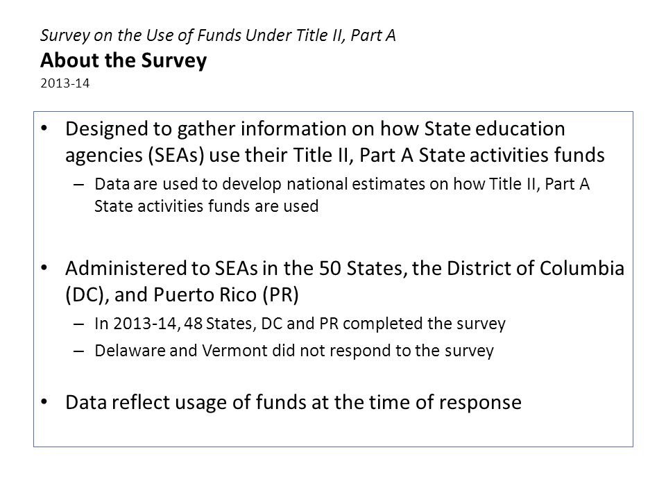 Figure 1 Most common activities funded by States 2013-14