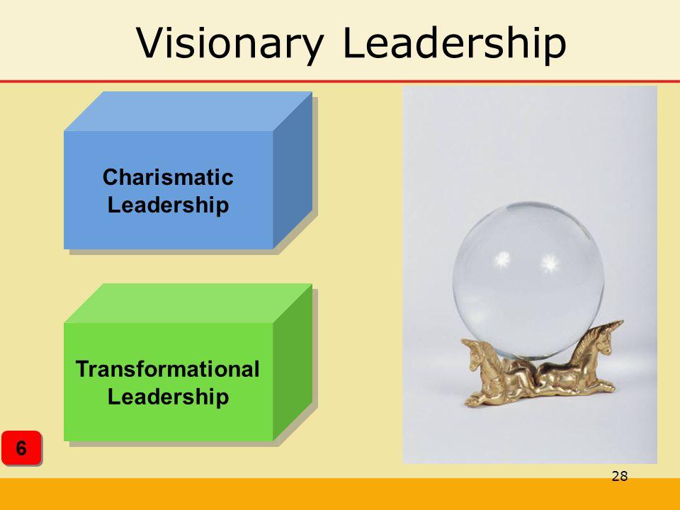 28 Visionary Leadership Charismatic Leadership Transformational Leadership 6 6