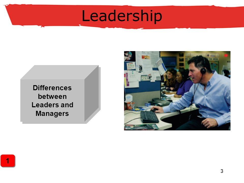 3 Leadership Differences between Leaders and Managers 1 1