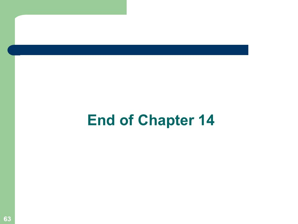 63 End of Chapter 14