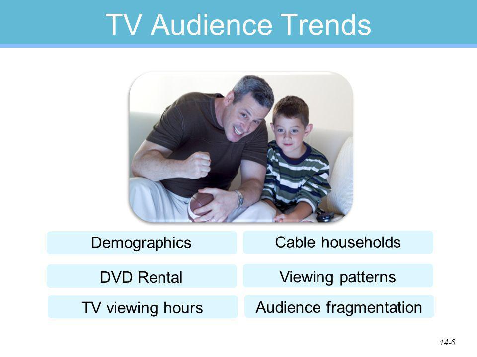 14-6 TV Audience Trends Demographics DVD Rental Cable households Viewing patterns TV viewing hours Audience fragmentation