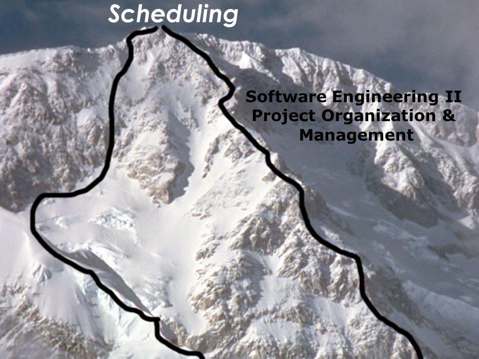 Bernd Bruegge & Allen H. Dutoit Object-Oriented Software Engineering: Using UML, Patterns, and Java 1 Scheduling Software Engineering II Project Organ