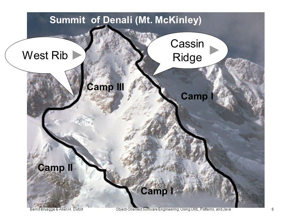 Bernd Bruegge & Allen H. Dutoit Object-Oriented Software Engineering: Using UML, Patterns, and Java 6 Camp III Camp II Camp I Summit of Denali (Mt. Mc