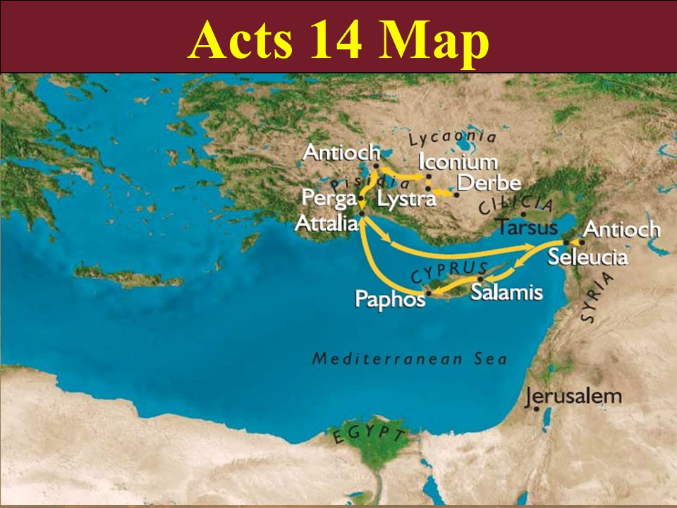 Acts 14 Map