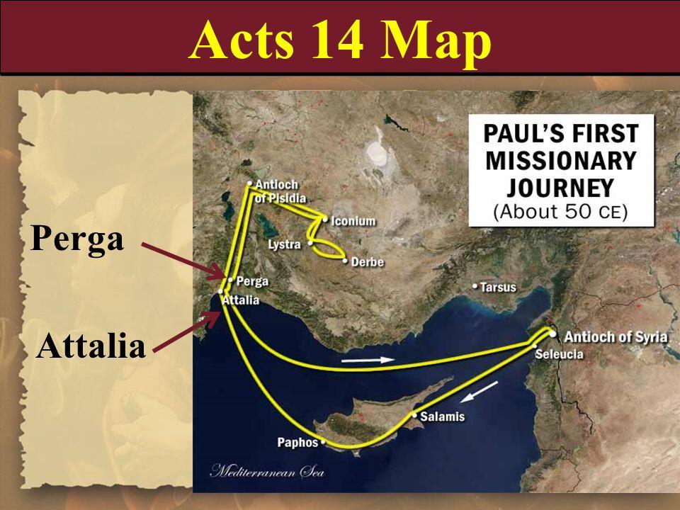 Acts 14 Map Perga Attalia