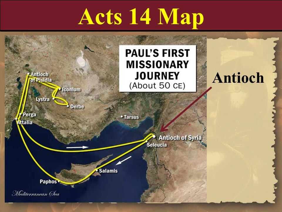 Acts 14 Map Antioch