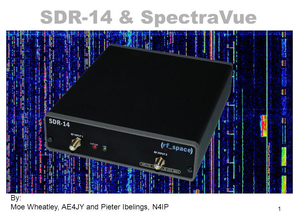 1 SDR-14 & SpectraVue S o f t w a r e D e f i n e d R a d i o By: Moe Wheatley, AE4JY and Pieter Ibelings, N4IP