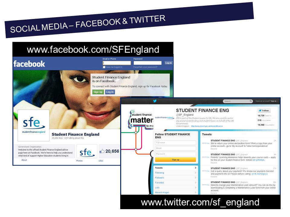 SOCIAL MEDIA – FACEBOOK & TWITTER www.facebook.com/SFEngland www.twitter.com/sf_england