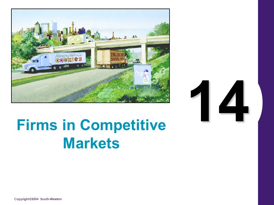 Copyright©2004 South-Western 14 Firms in Competitive Markets