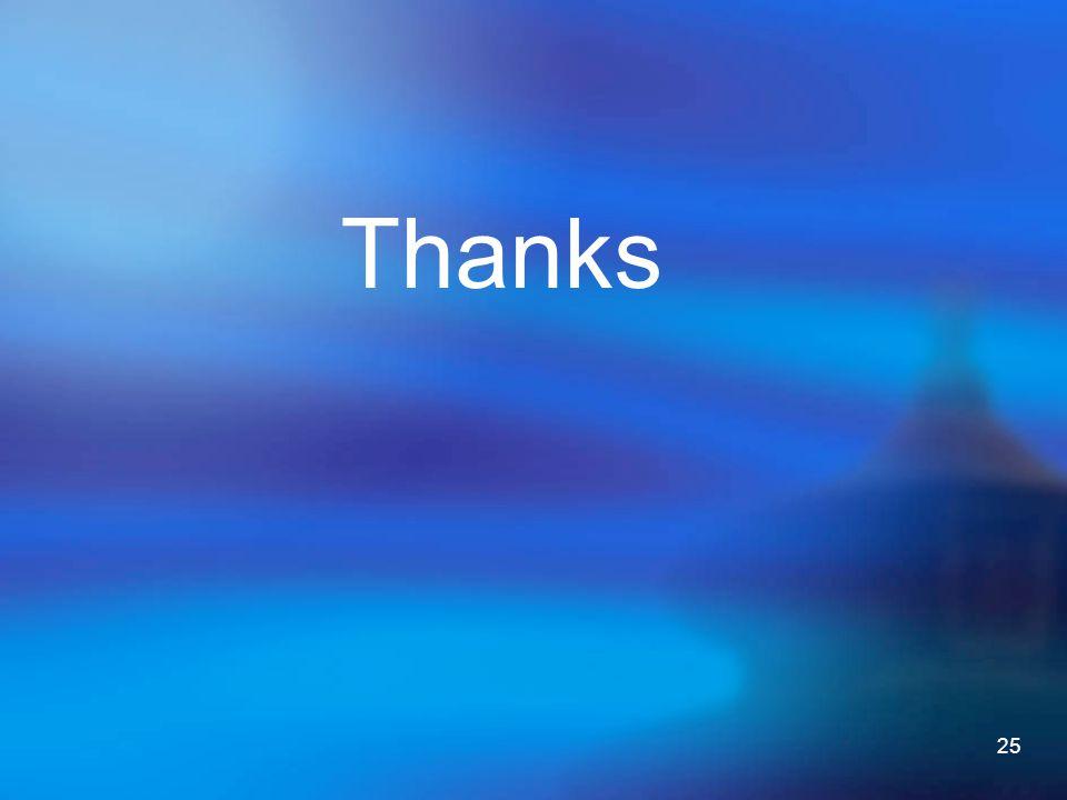 25 Thanks