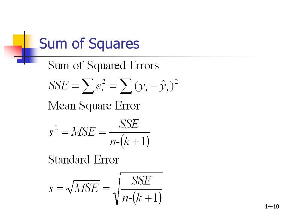 14-10 Sum of Squares