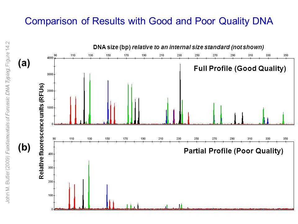 STR repeat region miniSTR primer Conventional PCR primer (a) (b) Conventional STR test (COfiler kit) MiniSTR assay (using Butler et al.