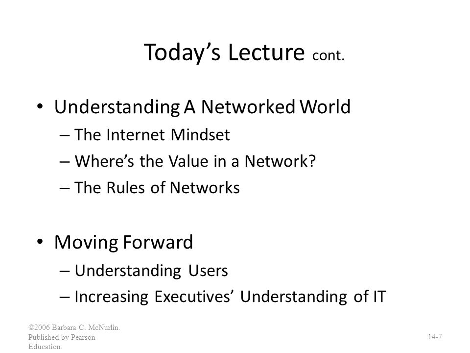 The Rules of Networks cont.2.