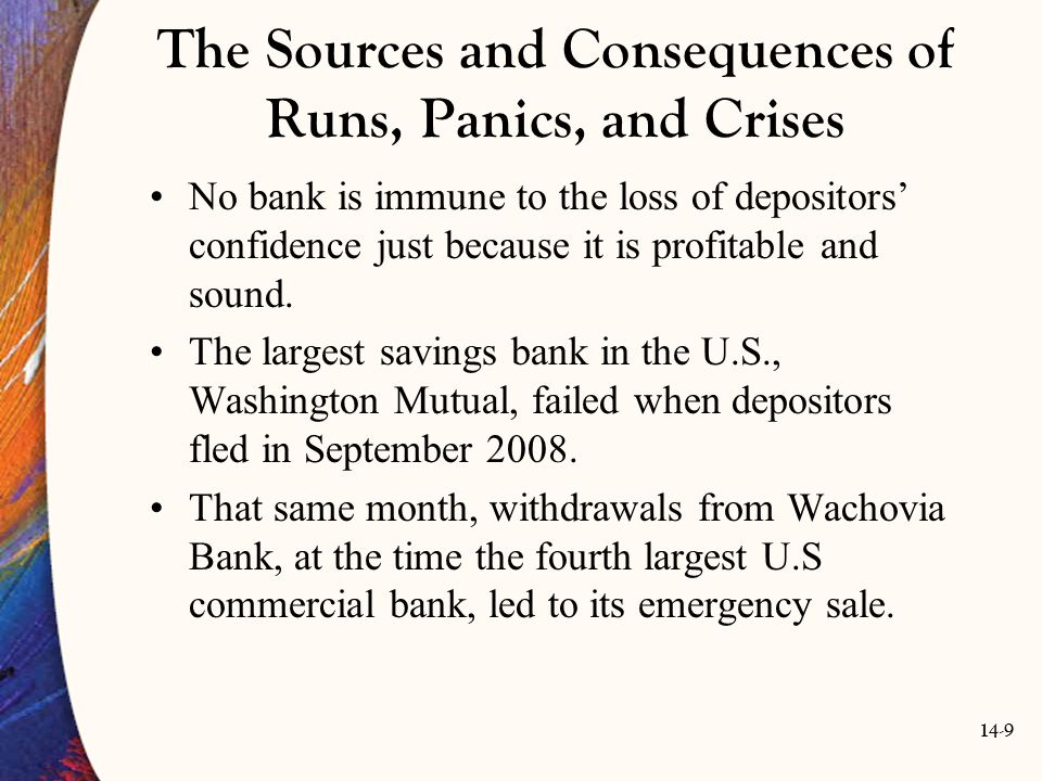 14-70 Restrictions on Competition In the process of trying to keep the crisis from deepening by merging failing banks with the largest ones, authorities made the too-big-to- fail problems even bigger.