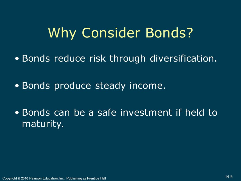14-5 Copyright © 2010 Pearson Education, Inc. Publishing as Prentice Hall Why Consider Bonds.