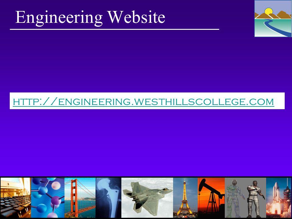 Engineering Website http://engineering.westhillscollege.com