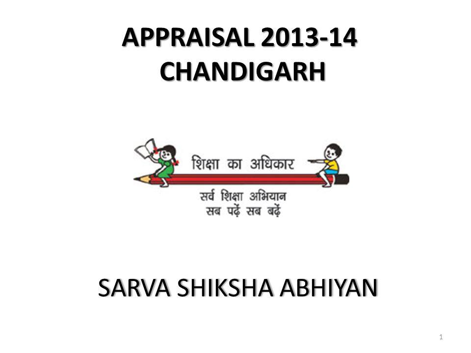APPRAISAL 2013-14 CHANDIGARH SARVA SHIKSHA ABHIYANSARVA SHIKSHA ABHIYAN 1