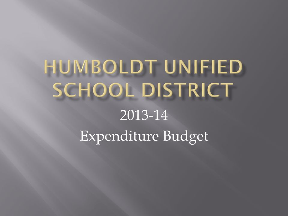 2013-14 Expenditure Budget
