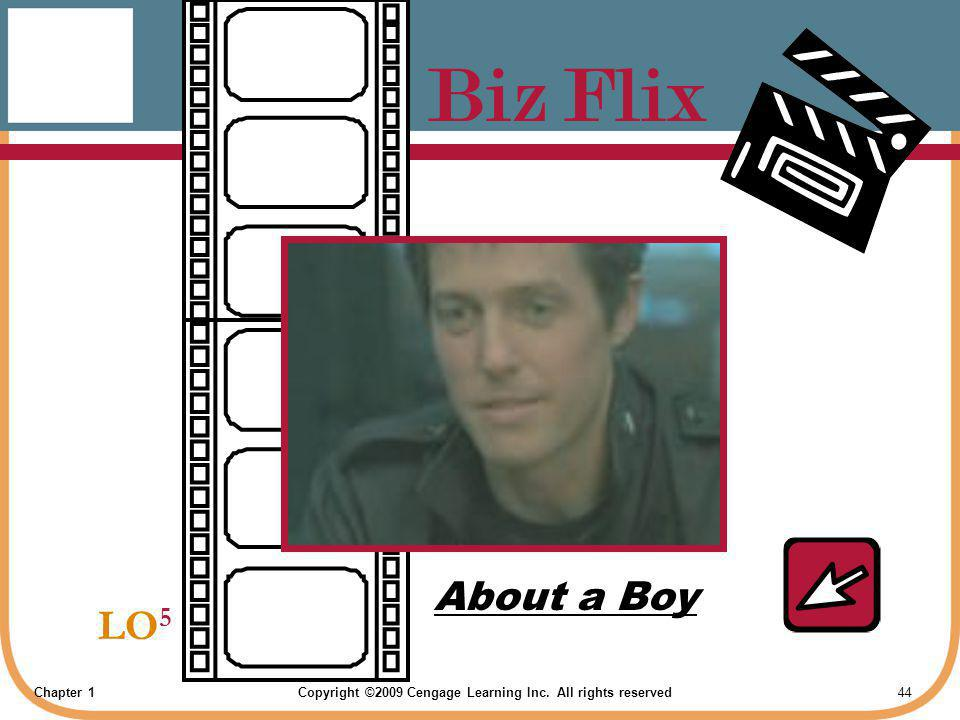 Chapter 1Copyright ©2009 Cengage Learning Inc. All rights reserved 44 Biz Flix LO 5 About a Boy