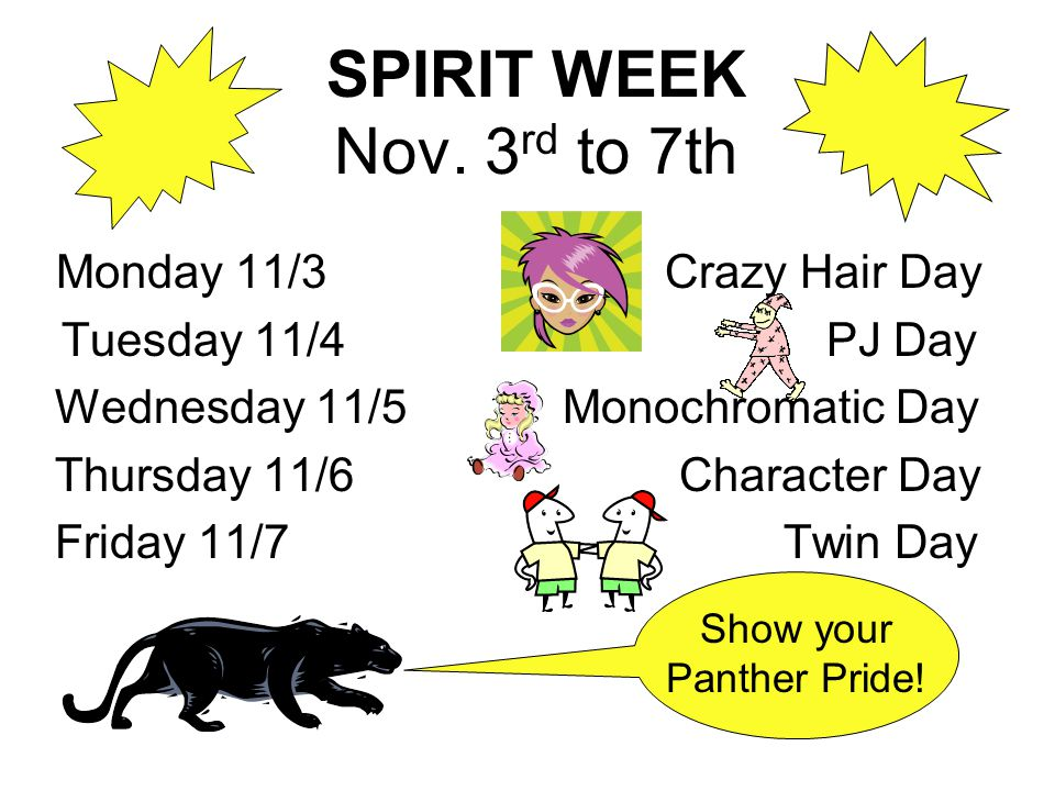 SPIRIT WEEK Nov.