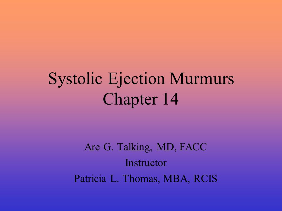 Outline Outflow Tracts Inflow Tracts Inter-Ventricular Flow Ejection Murmur Classification of Ejection Aortic Stenosis Bicuspid Aortic Valve Tetralogy of Fallot Dilatation of the Proximal Pulmonary Pulmonary Arterial Narrowing Coarctation of the Aorta Musical Murmurs