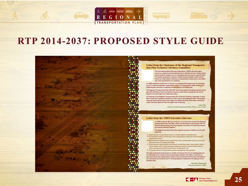 25 RTP 2014-2037: PROPOSED STYLE GUIDE