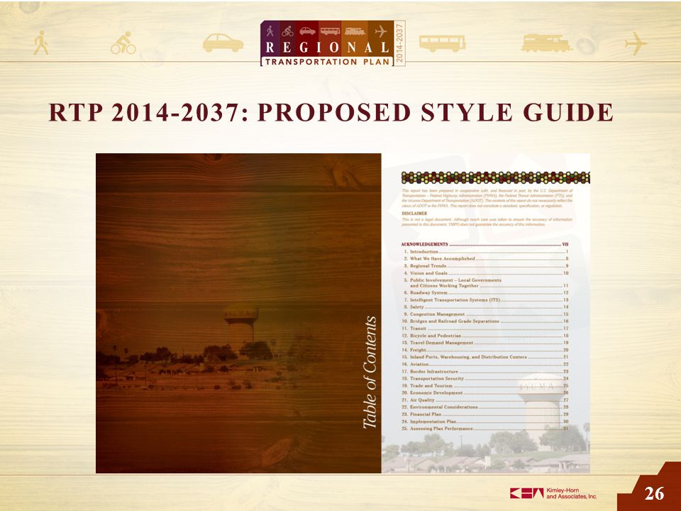 26 RTP 2014-2037: PROPOSED STYLE GUIDE