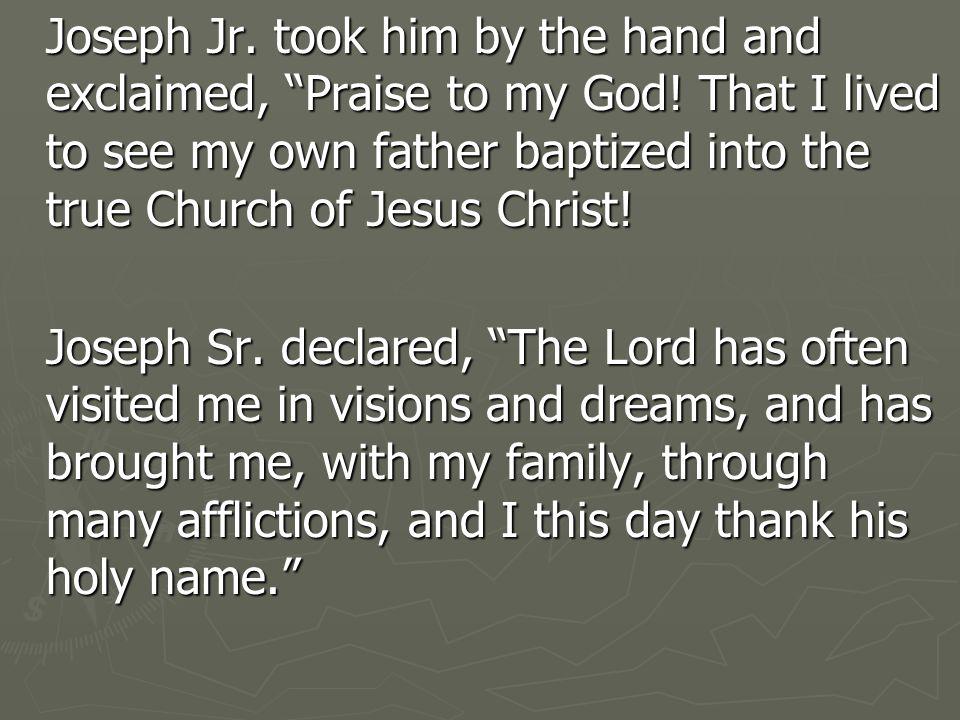 Of Joseph Smith, David Whitmer said: He was a religious and straight forward man.