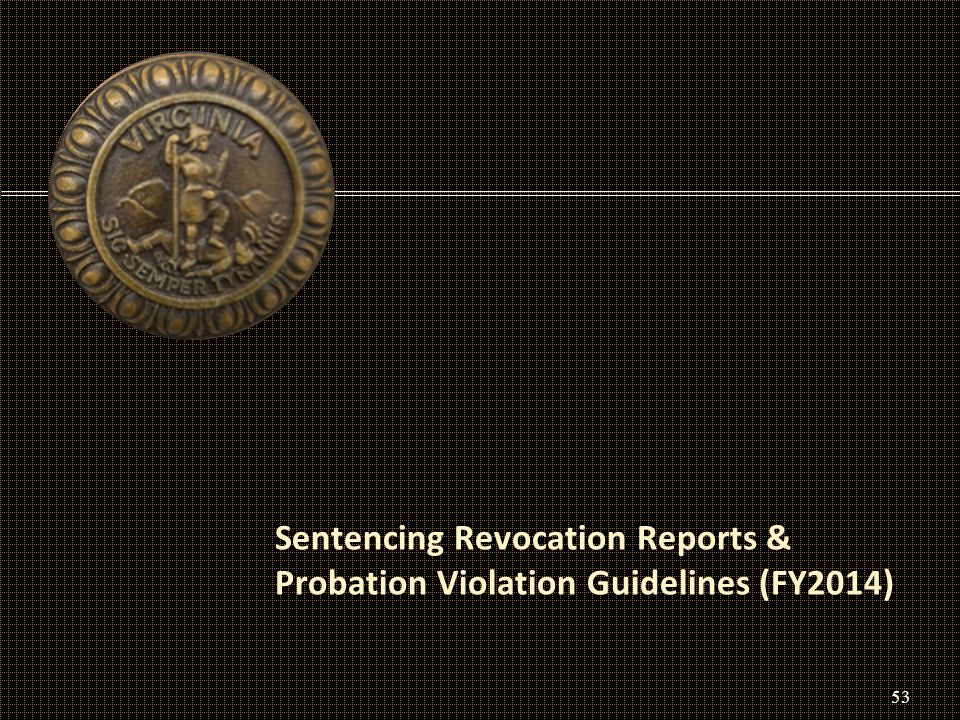 Sentencing Revocation Reports & Probation Violation Guidelines (FY2014) 53