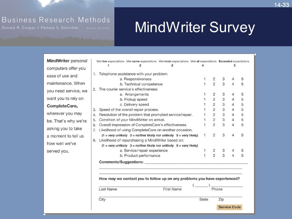 14-33 MindWriter Survey