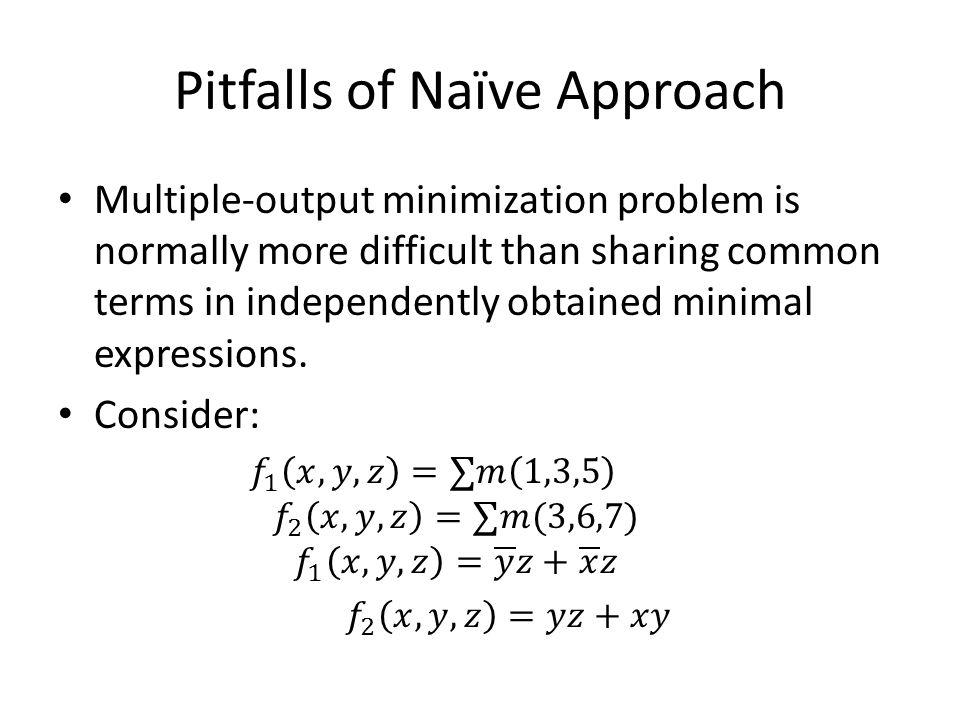 Pitfalls of Naïve Approach