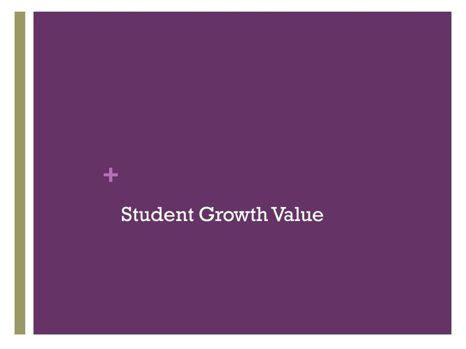 + Student Growth Value