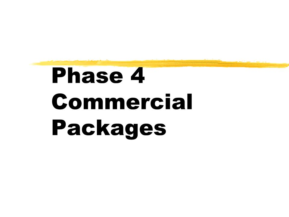 Phase 4 Commercial Packages