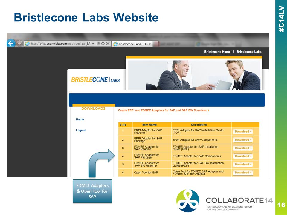 Bristlecone Labs Website 16 FDMEE Adapters & Open Tool for SAP