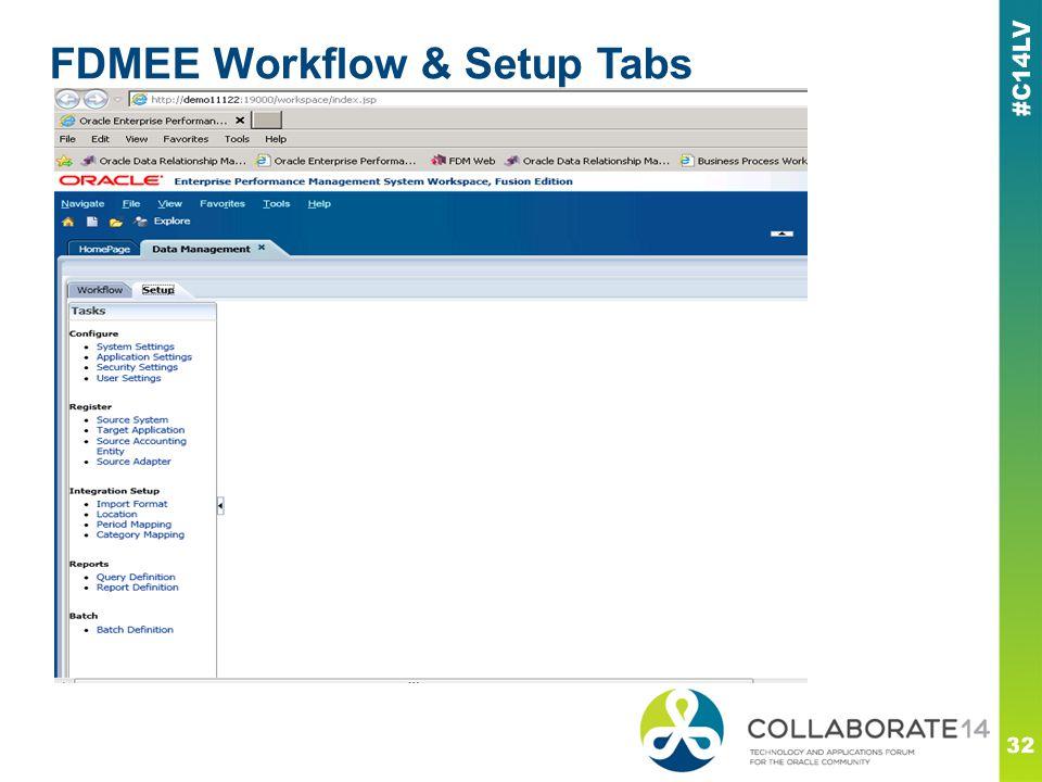 FDMEE Workflow & Setup Tabs 32