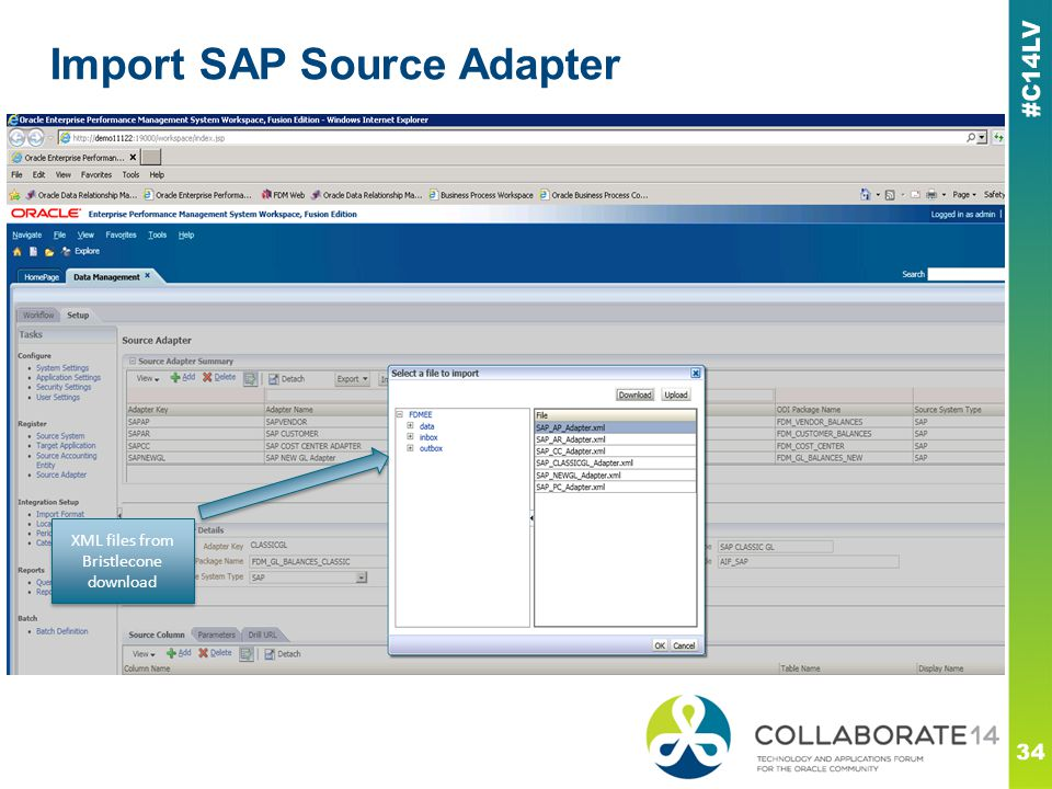 Import SAP Source Adapter 34 XML files from Bristlecone download