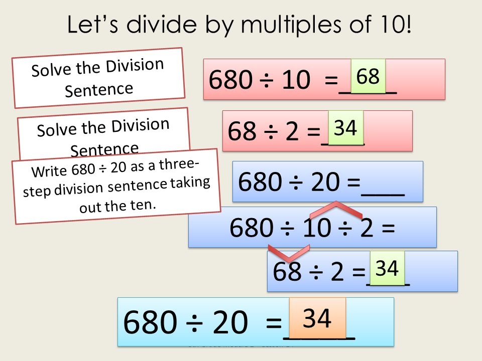 Let's divide by multiples of 10.