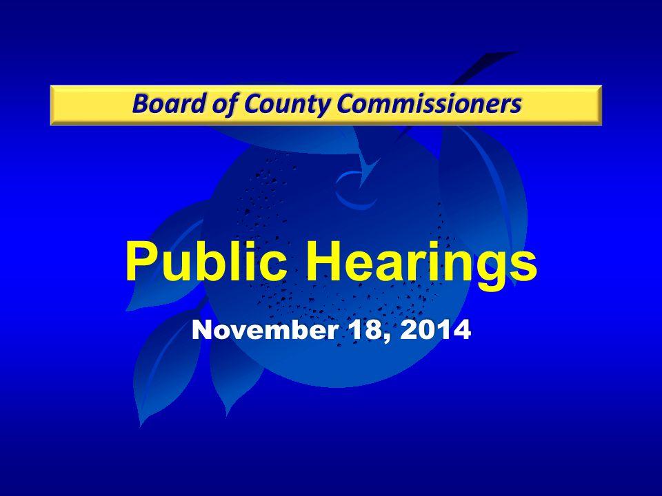 Public Hearings November 18, 2014