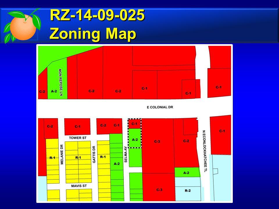 RZ-14-09-025 Zoning Map RZ-14-09-025 Zoning Map