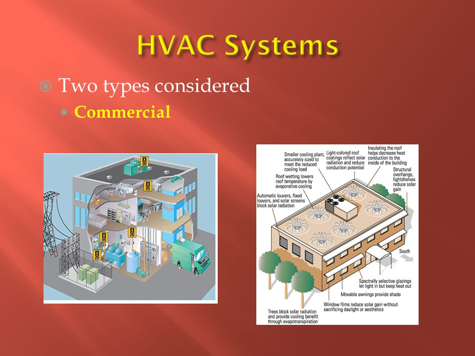  Two types considered Commercial