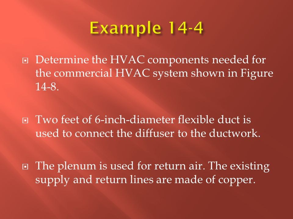  Determine the HVAC components needed for the commercial HVAC system shown in Figure 14-8.