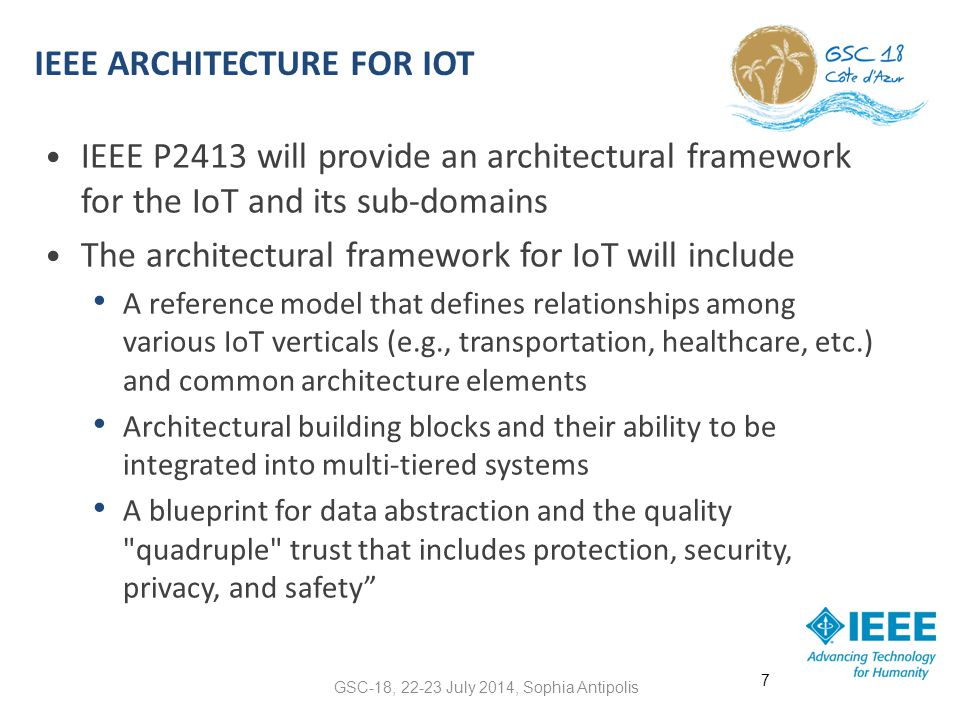 IEEE P2413 AND OTHER BODIES A unified IoT architecture framework cannot be constructed in isolation.